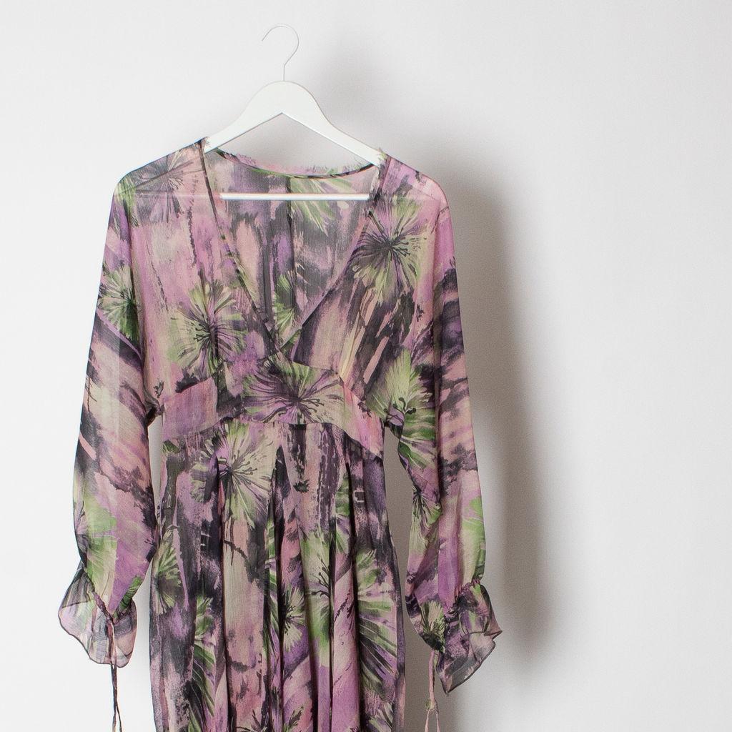 Floral Sheer Maxi Dress
