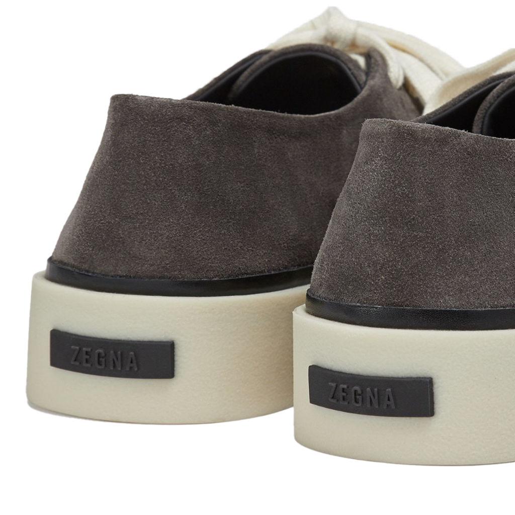 FEAROFGOD x ZEGNA Suede Sneaker in Charcoal
