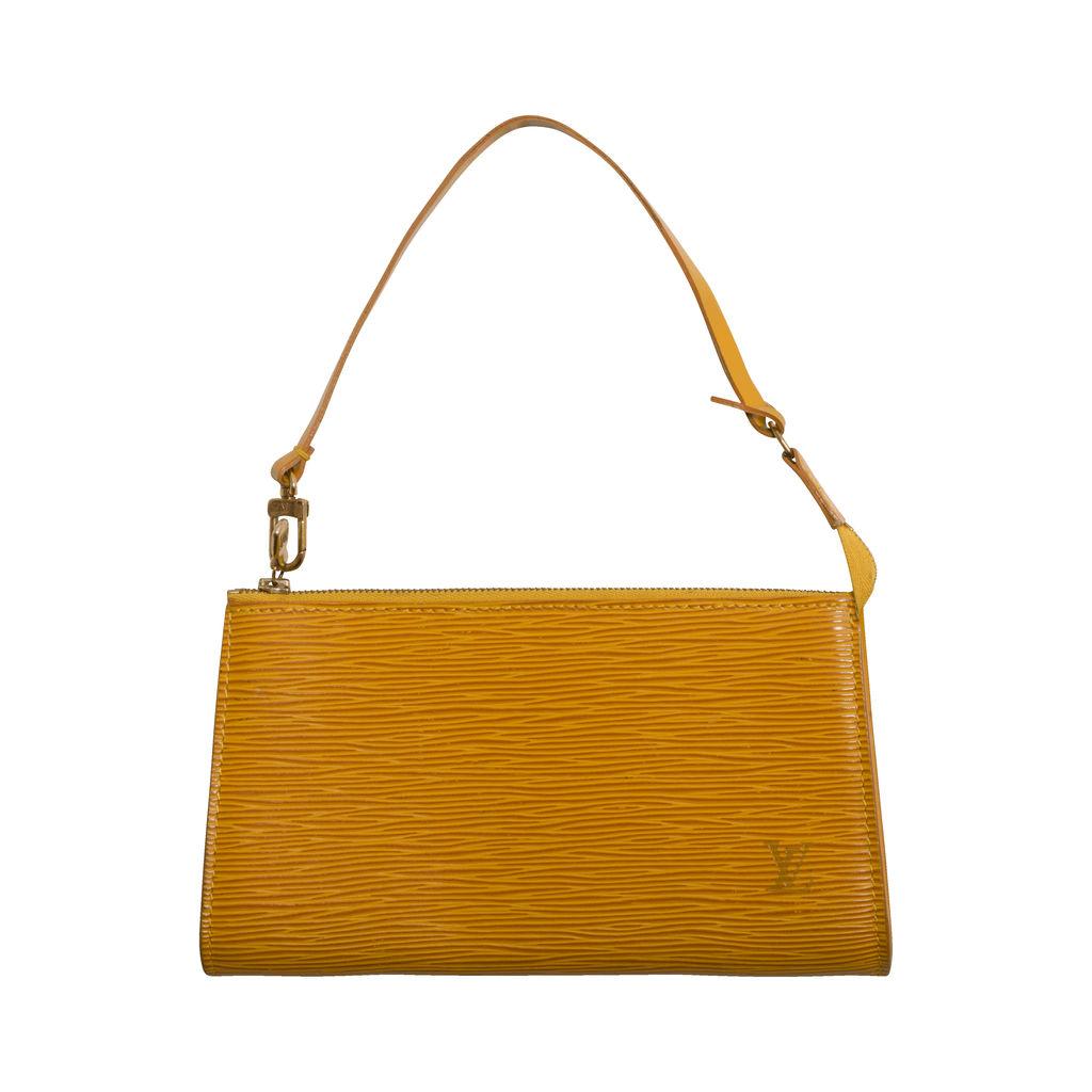 Louis Vuitton Epi Pouchette in Yellow