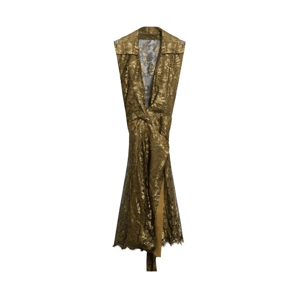Diane Von Furstenberg Gold Lace Dress