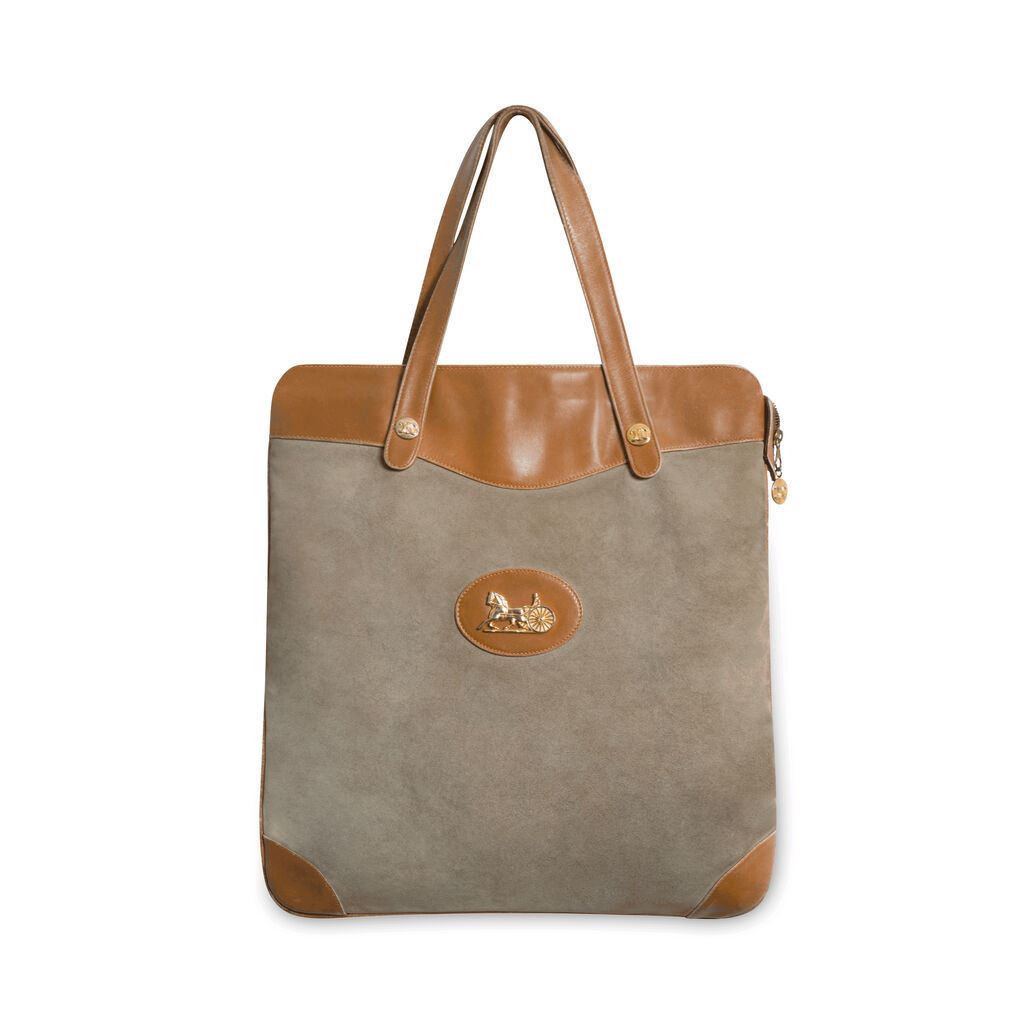 Vintage Celine Suede and Leather Tote