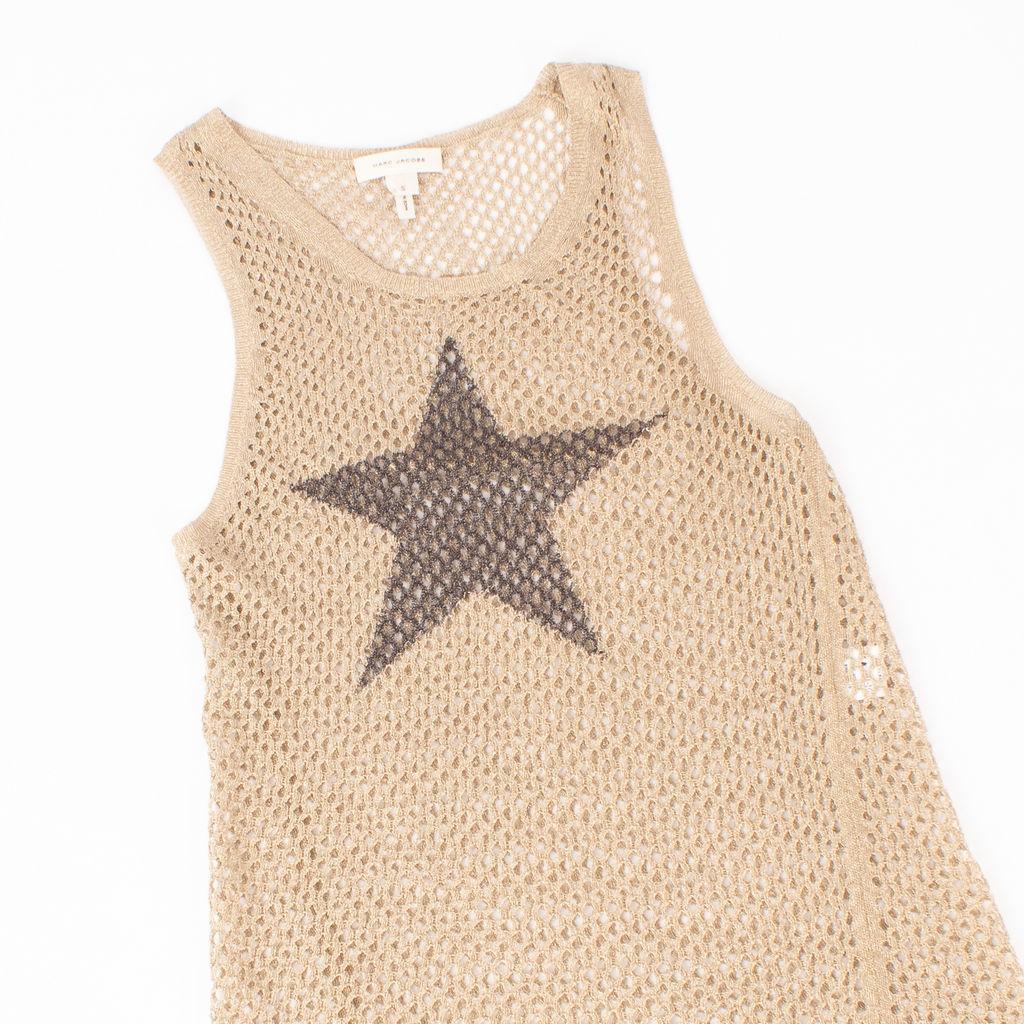 Marc Jacobs Mesh Star Print Tan
