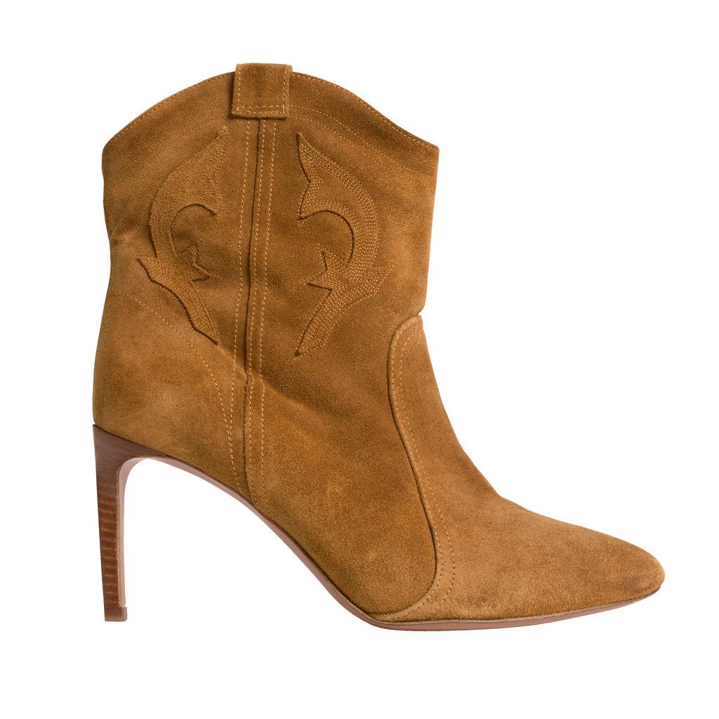 Ba&sh Caitlin Ankle Boots - Tan