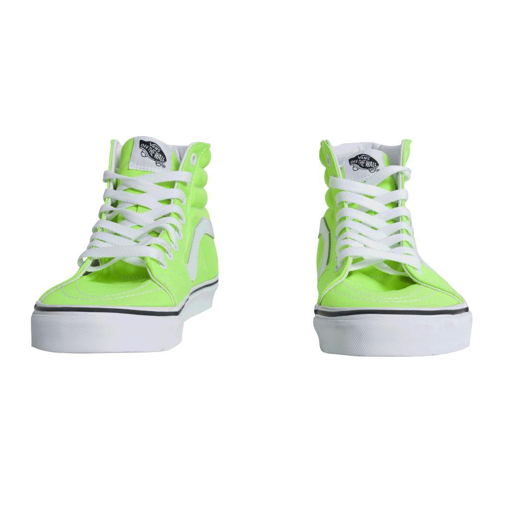 Vans Canvas Sk8-Hi- Neon Green Gecko/ True White