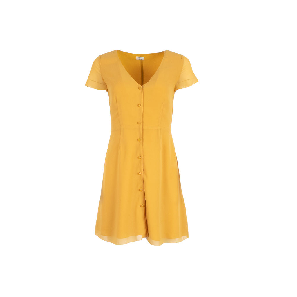 Wilfred Mustard Colored Sun Dress