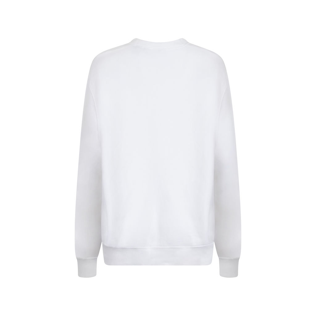 DKNY White Crew Neck Sweatshirt