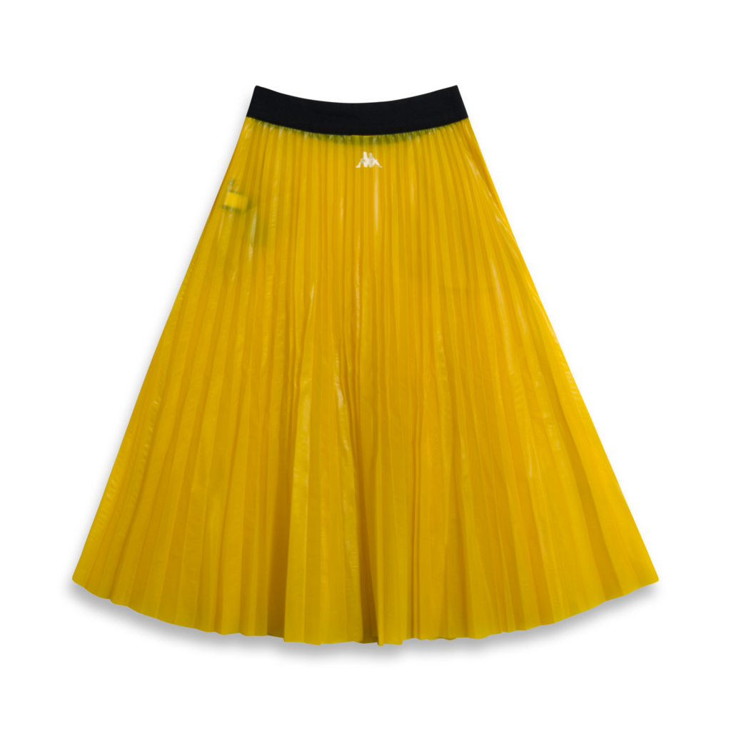 Kappa Kontroll Plisse Yellow Black Skirt