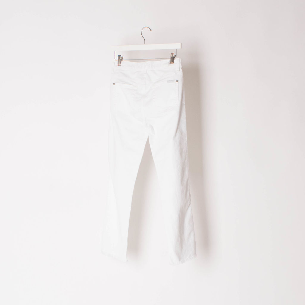 7 For All Mankind Edie White Cut Off Jeans