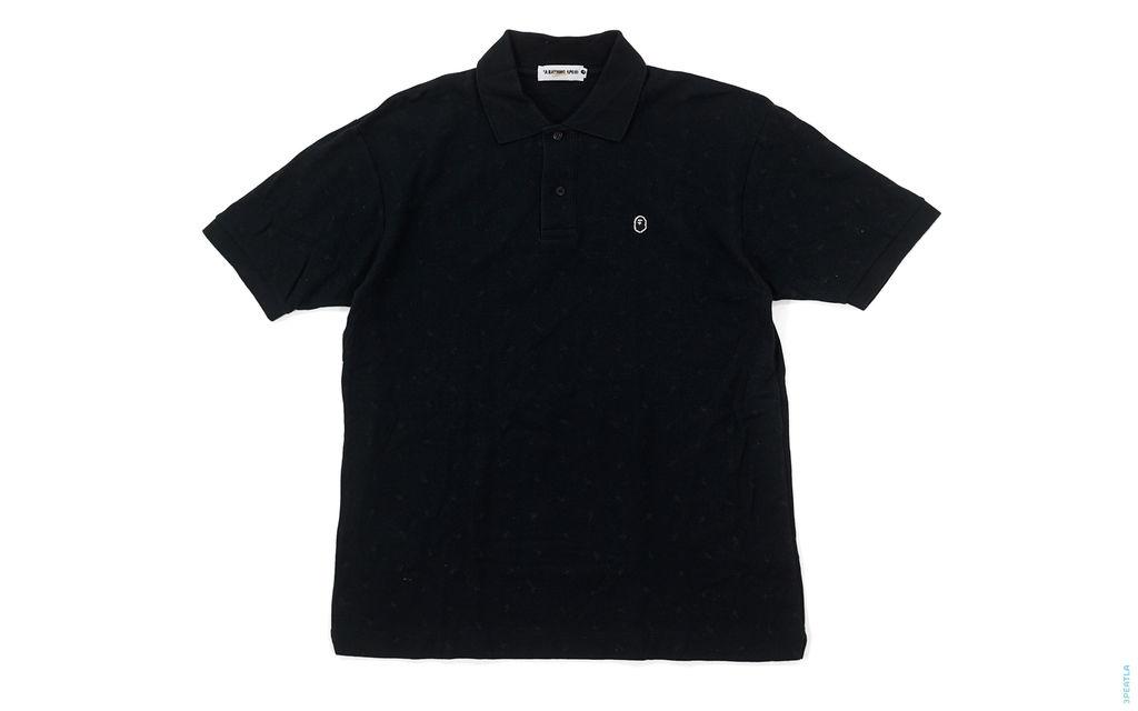 Black Apehead Pique Polo black
