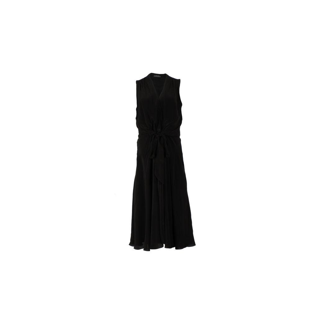 Azeeza Claire Crepe De Chine Midi Dress