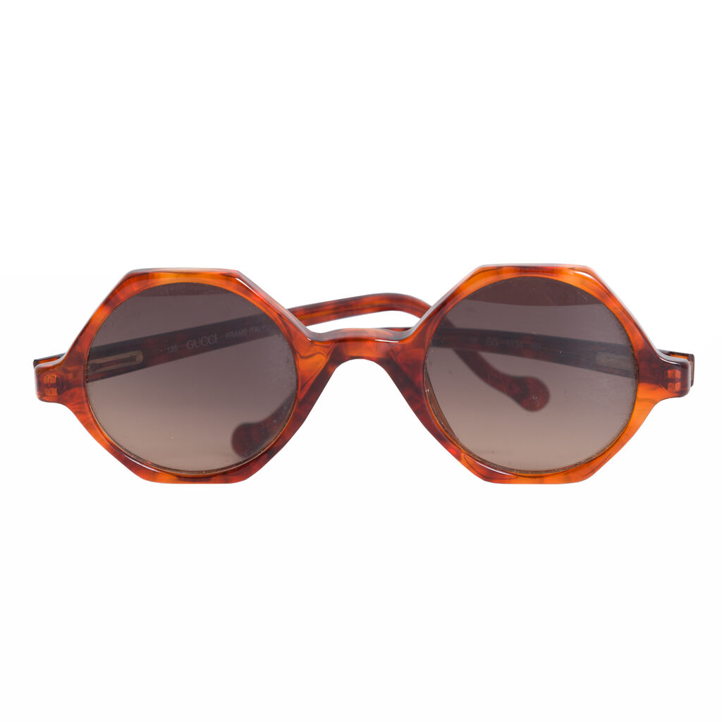 Gucci Hexagonal Sunglasses - Tortoiseshell Acetate