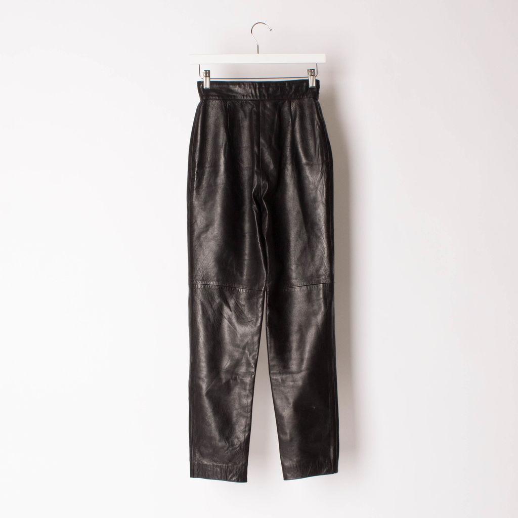 Vintage 80s High-Waist Leather Pants