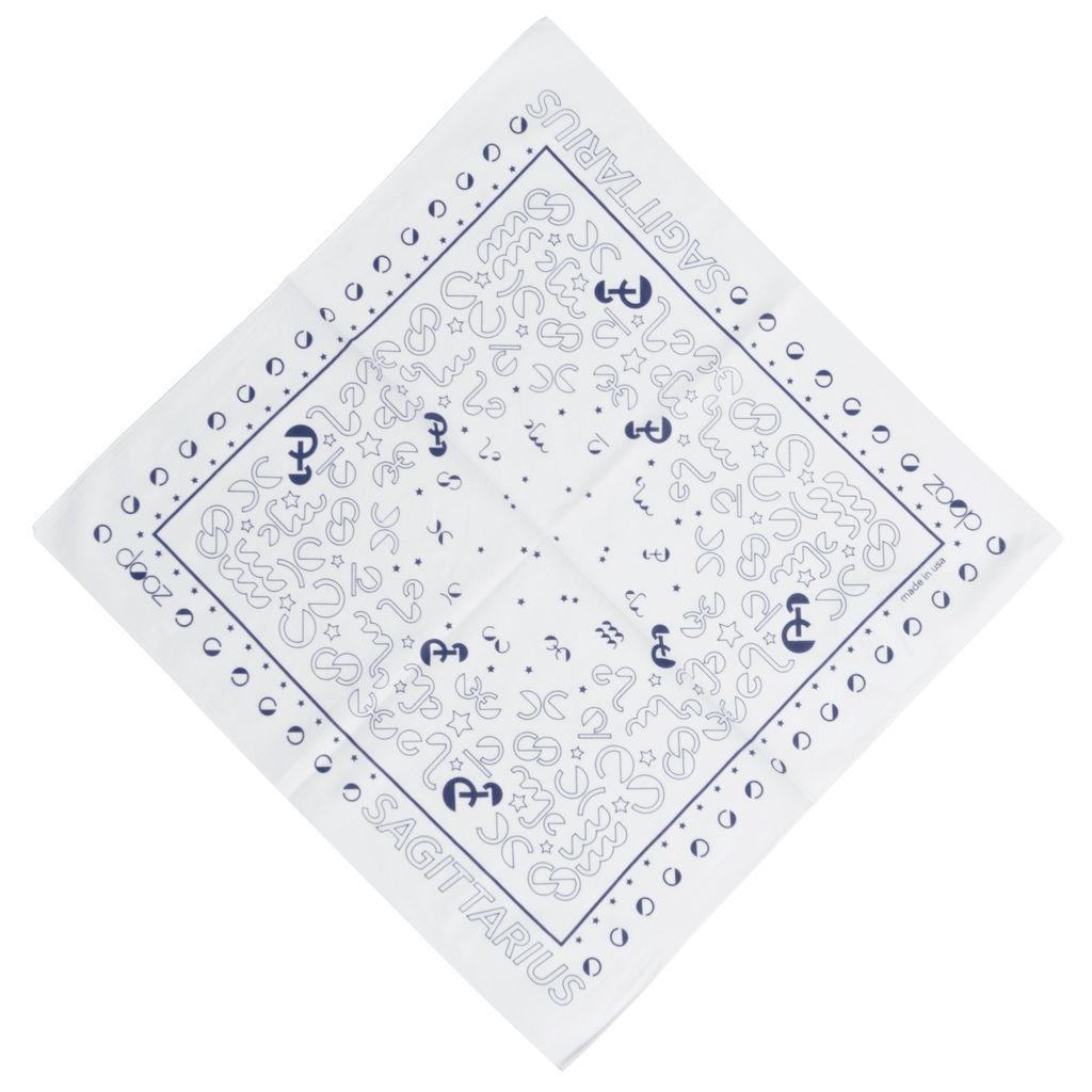 DOOZ Sagittarius Bandana + Keychain Set in White