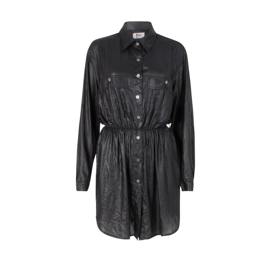 Nightcap X Carisa Rene Black Button Down Dress