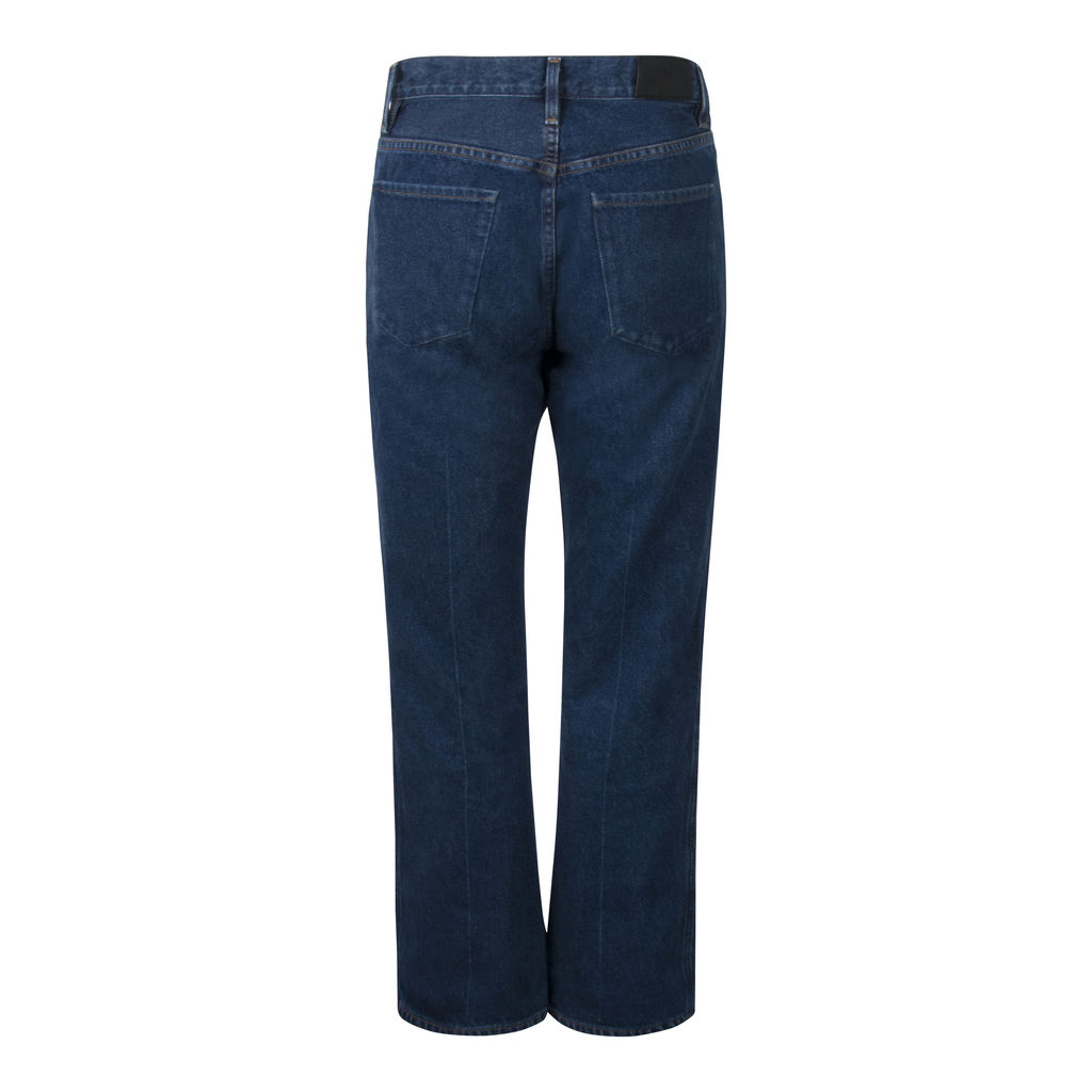 Goldsign- Benefit High-Rise Straight Jeans in Deep Indigo