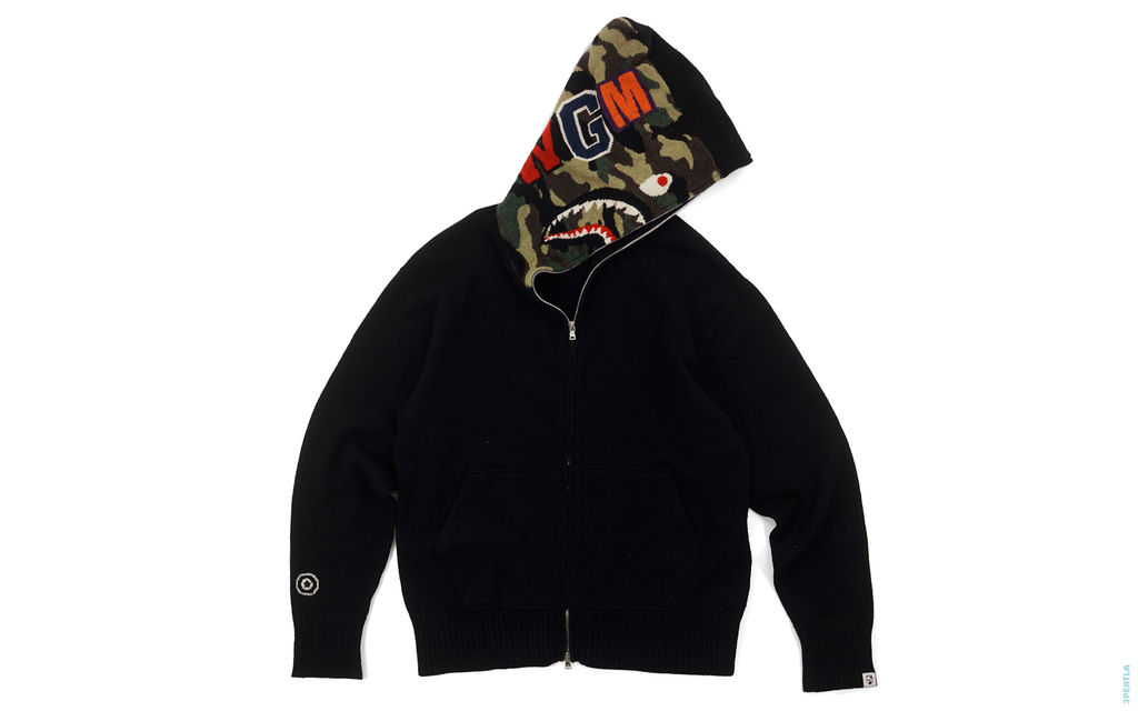 BAPE 1st Knit Shark Full Zip Sweater