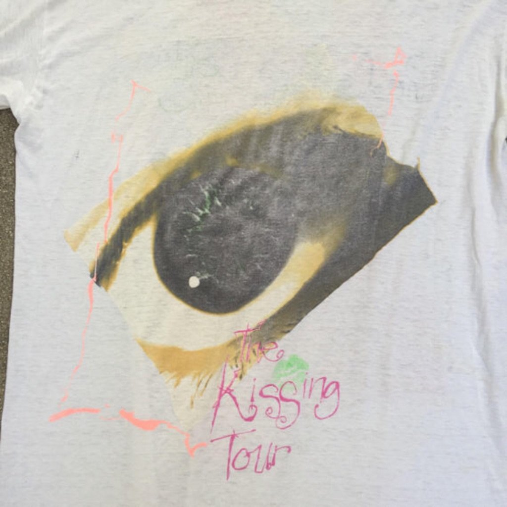 "Vintage 1987 The Cure ""Kissing Tour"" Concert Shirt  curated by Scott Hopkins"
