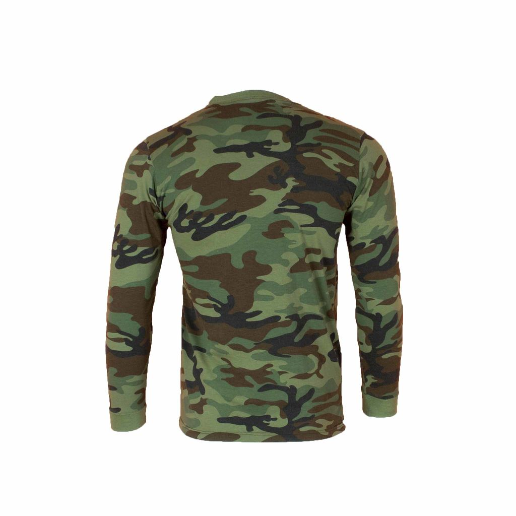 Vintage Camo Long Sleeve T Shirt