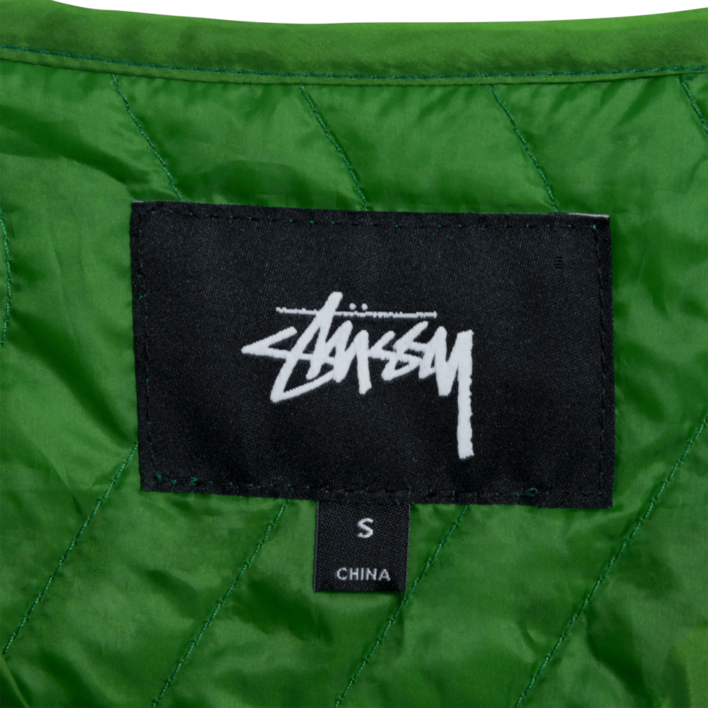 Stussy Stall Zip-Up Quilted Liner Vest