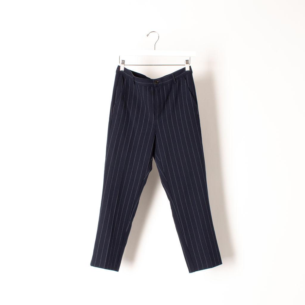 Ganni Pinstripe Wide Leg Trouser