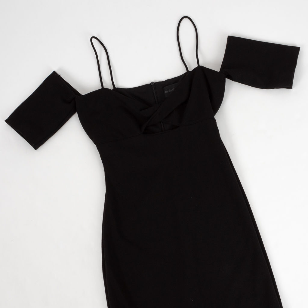 Bless'ed Are The Meek Cold Shoulder Dress