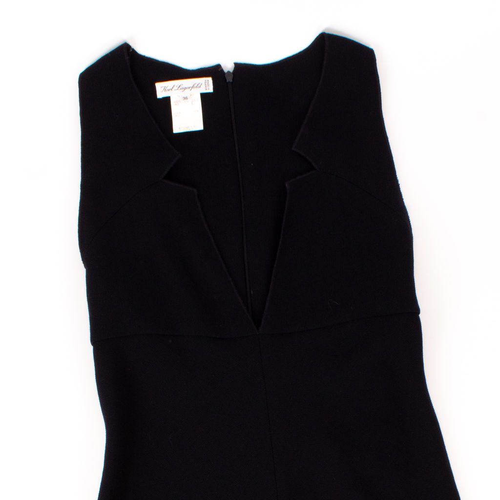 Karl Lagerfeld Collection Sleeveless Wool Midi Dress