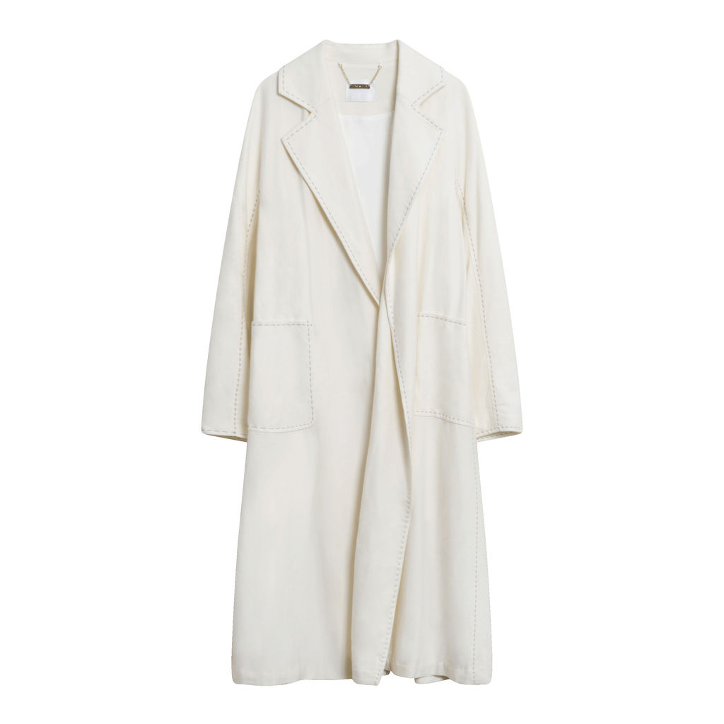 Leo + Lin Contrast Stitched Overcoat