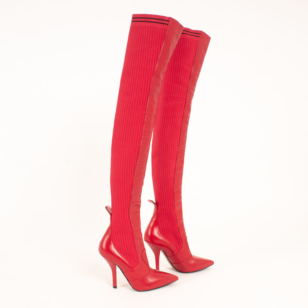 Fendi Rockoko Over The Knee Boots curated by Julie Schott