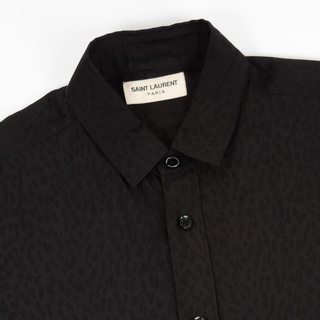Saint Laurent Tonal Leopard Button Down Shirt