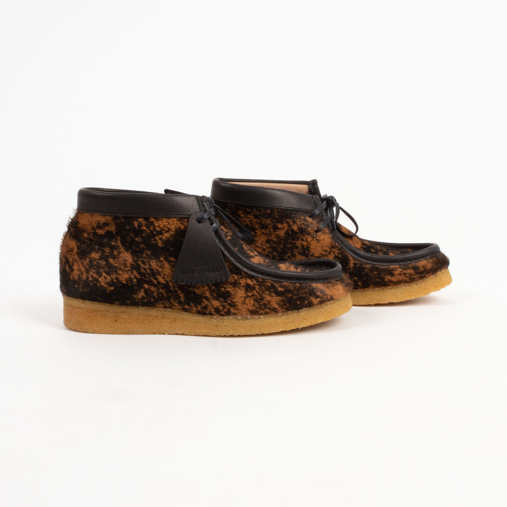 Clarks Wallabee Boot in Premium Hair Tortoise Shell Print