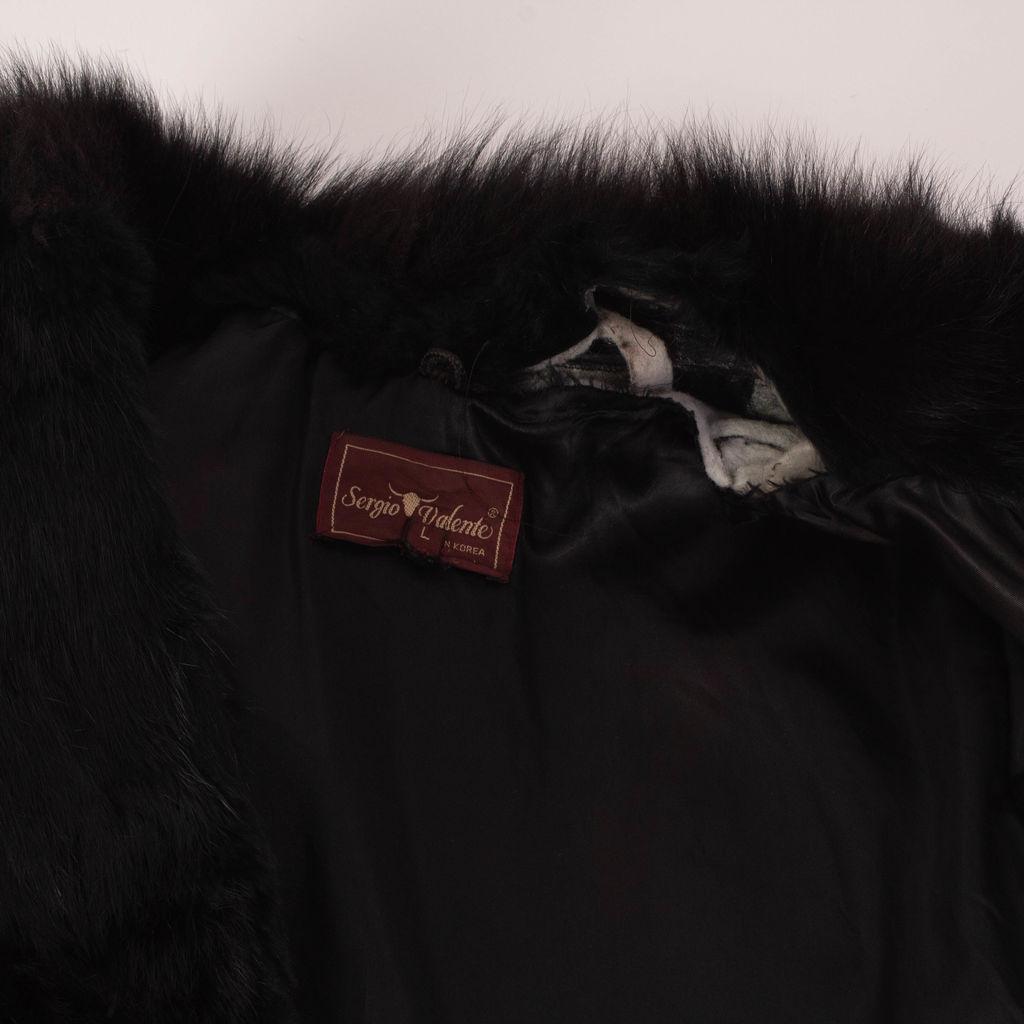 Vintage Black Fur Coat