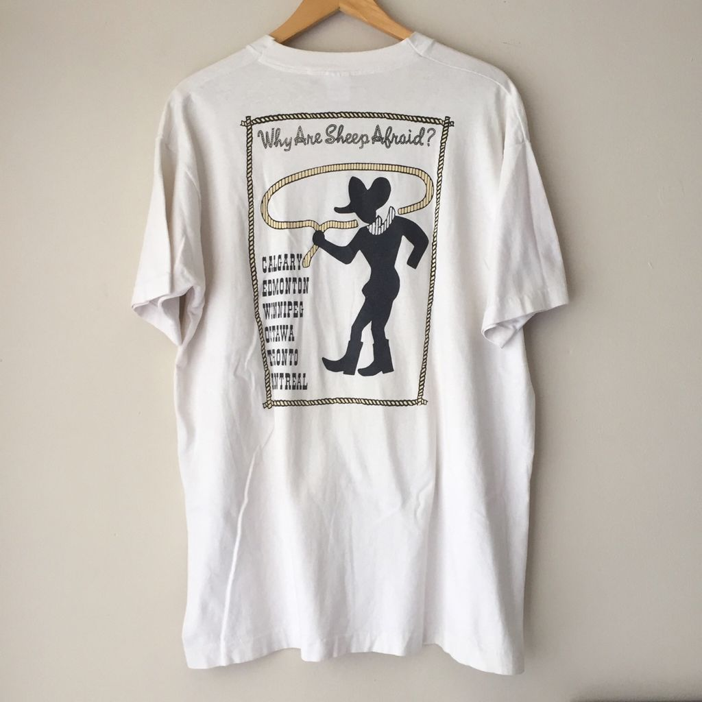 """Vintage 1993 Pearl Jam """"Vs"""" Canadian Tour Tee Shirt  curated by Scott Hopkins"""