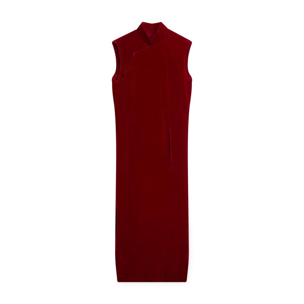 Vintage Velvet Sleeveless Dress