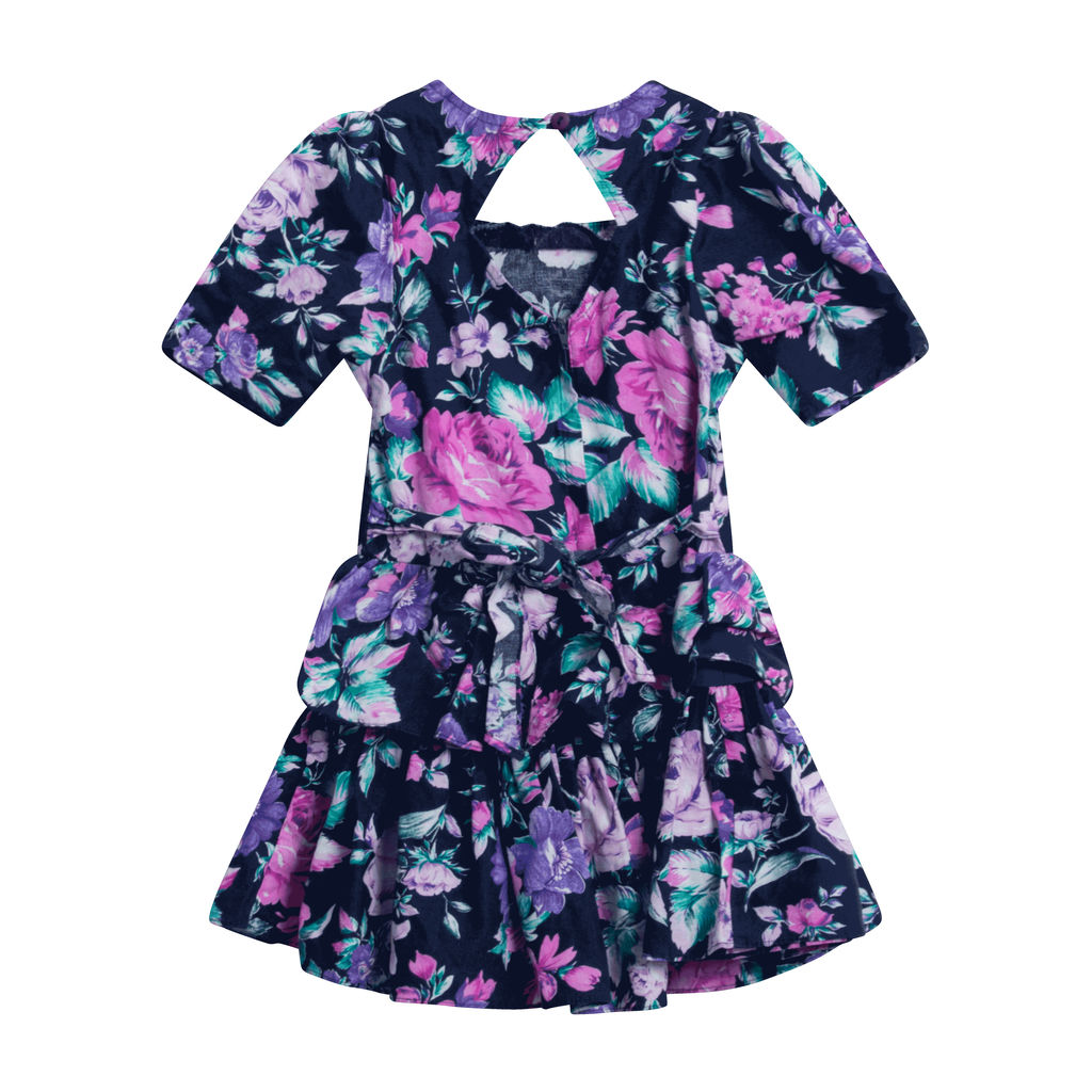 Eve Too Floral Dress Short Sleeve Tiered Ruffled Dress