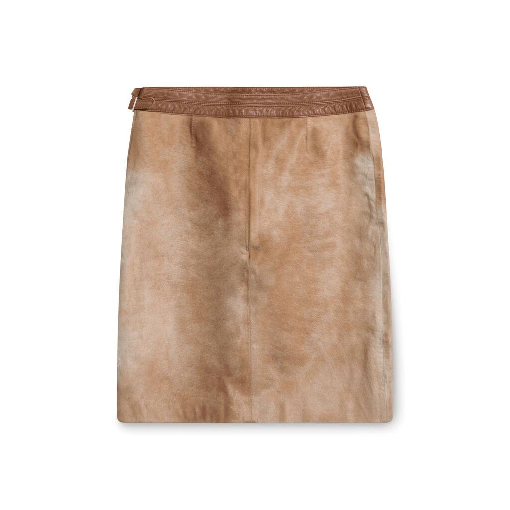 Vintage Carlisle Cowhide Mini Skirt