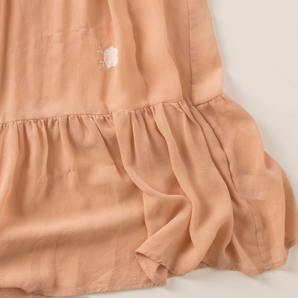 Joie Peach Embroidered Maxi Dress