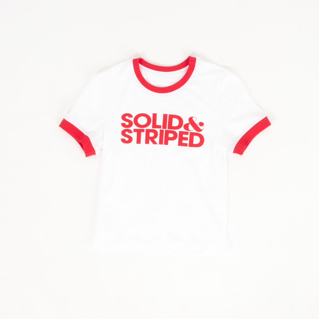 Solid & Striped Logo Ringer T-Shirt