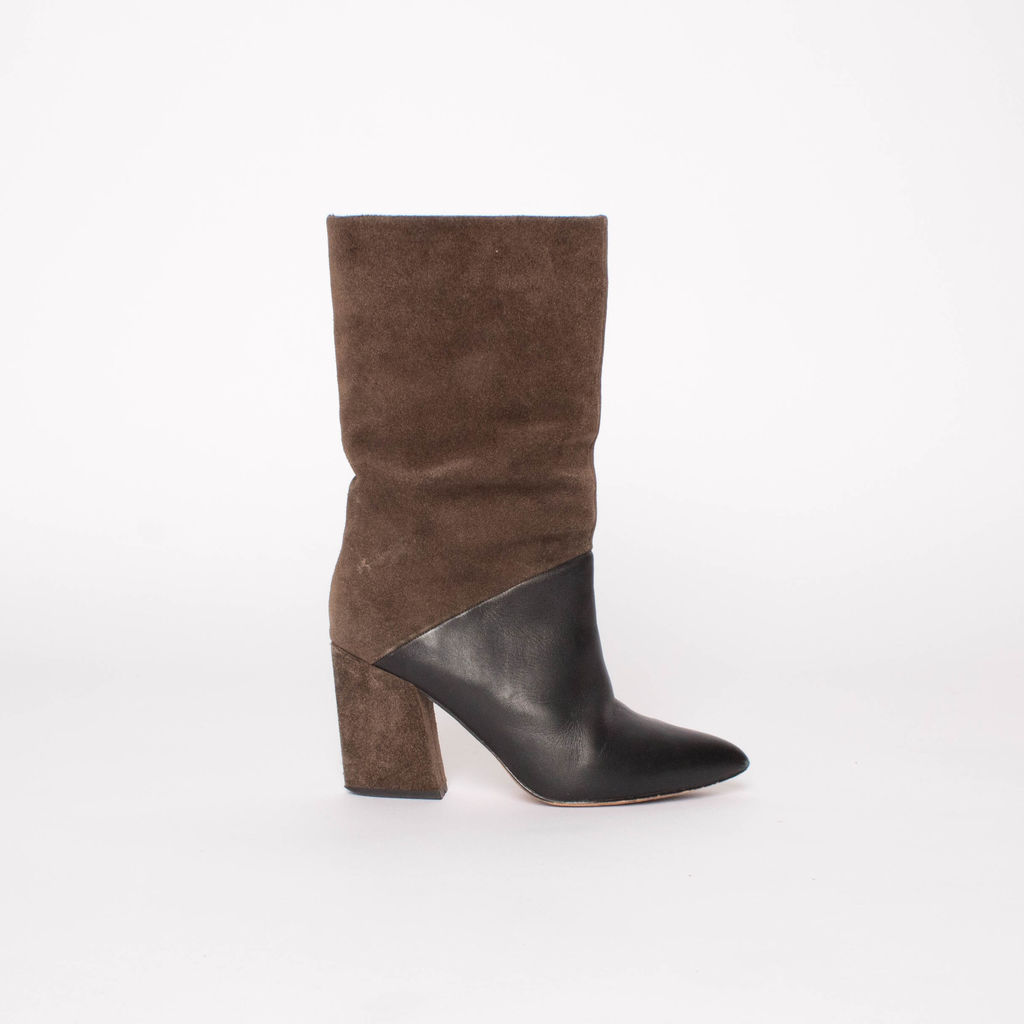 ASKA Leather and Suede Boots