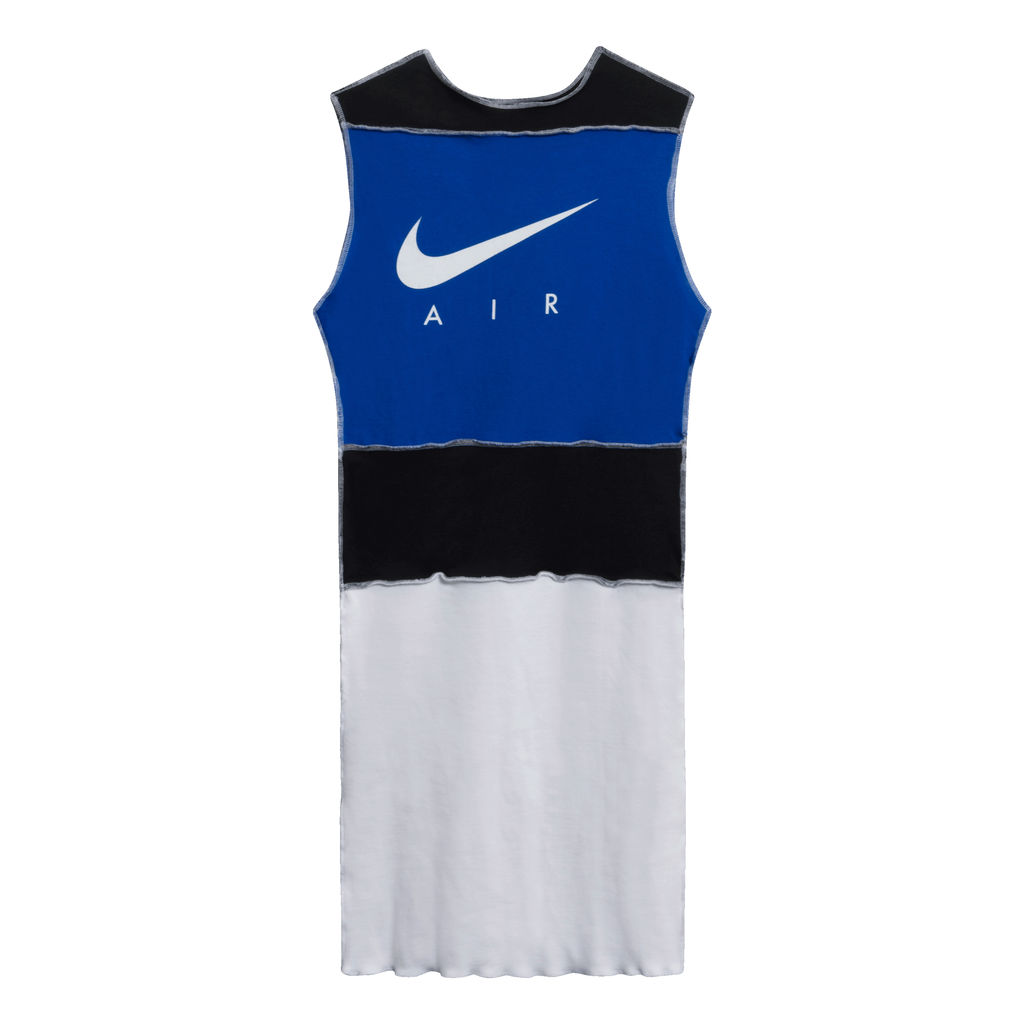 JJVintage Reworked Nike Air Sleeveless Dress in Blue/White/Black