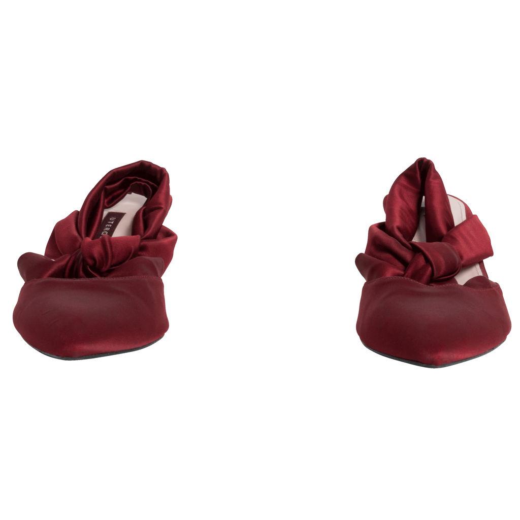Uterque Satin Kitten Heel Shoe