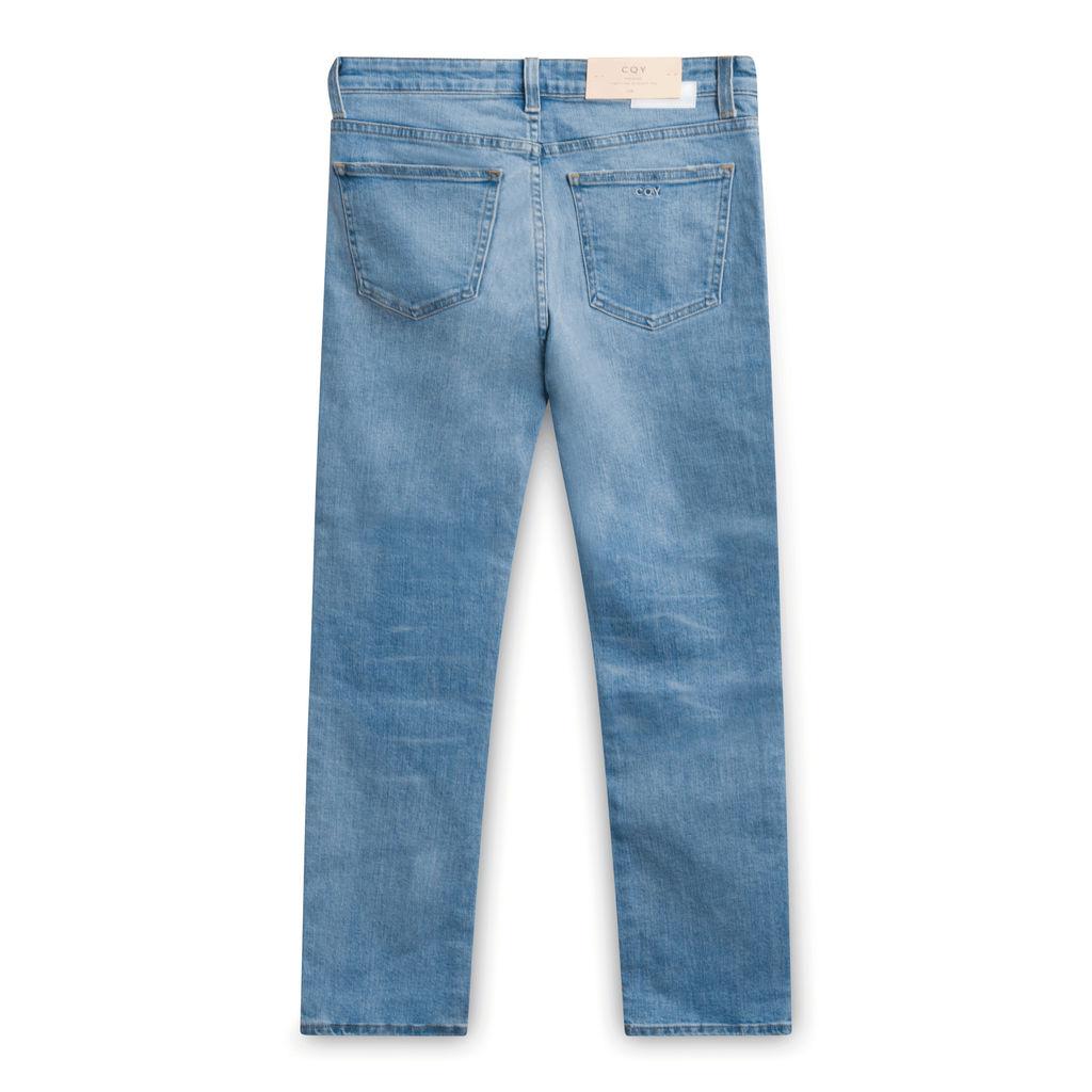 CQY High-rise Straight Leg Jeans