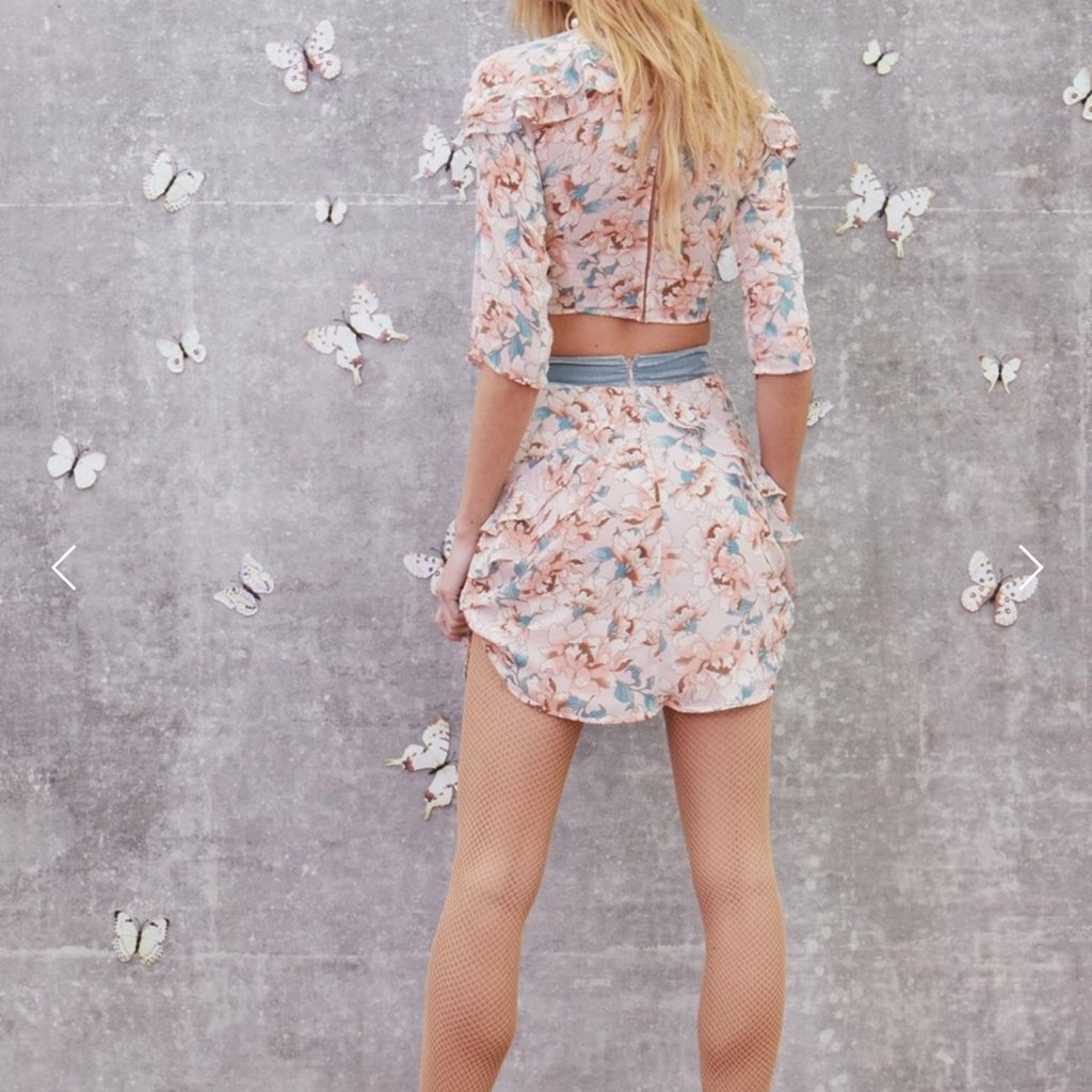 For Love and Lemons Floral Blouse + Skirt Set curated by Sami Miro
