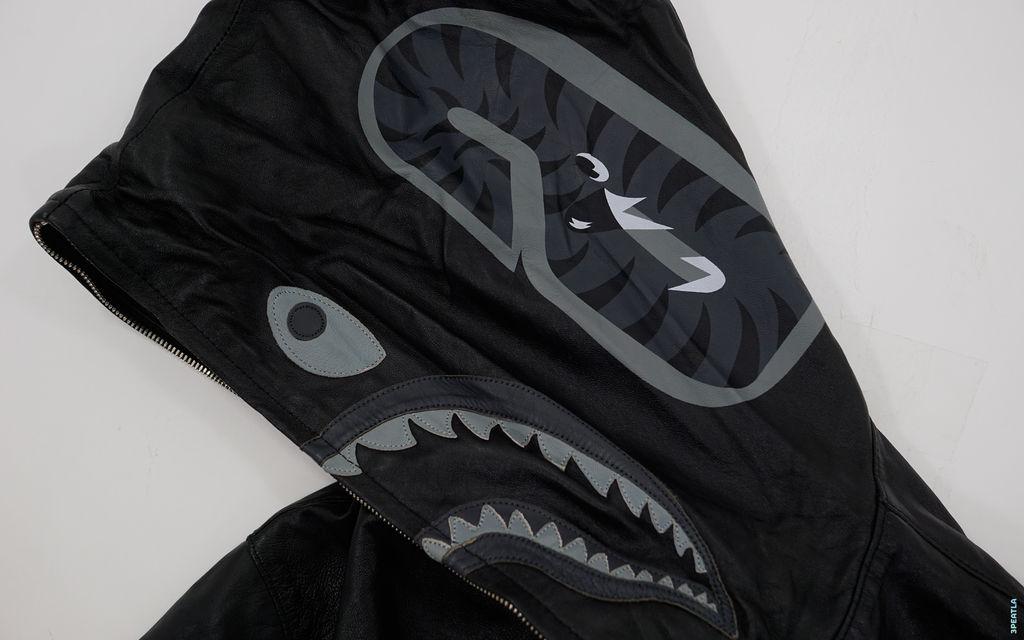 BAPE 1st Sheepskin Leather Shark Full Zip Jacket