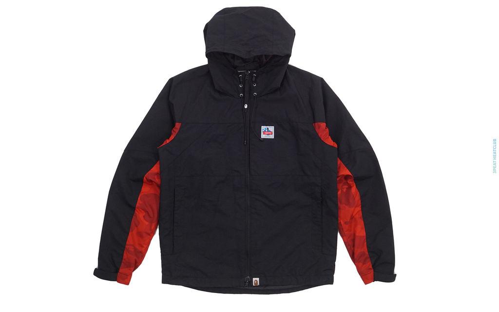 Bape Color Camo Accent Hooded Windbreaker Jacket