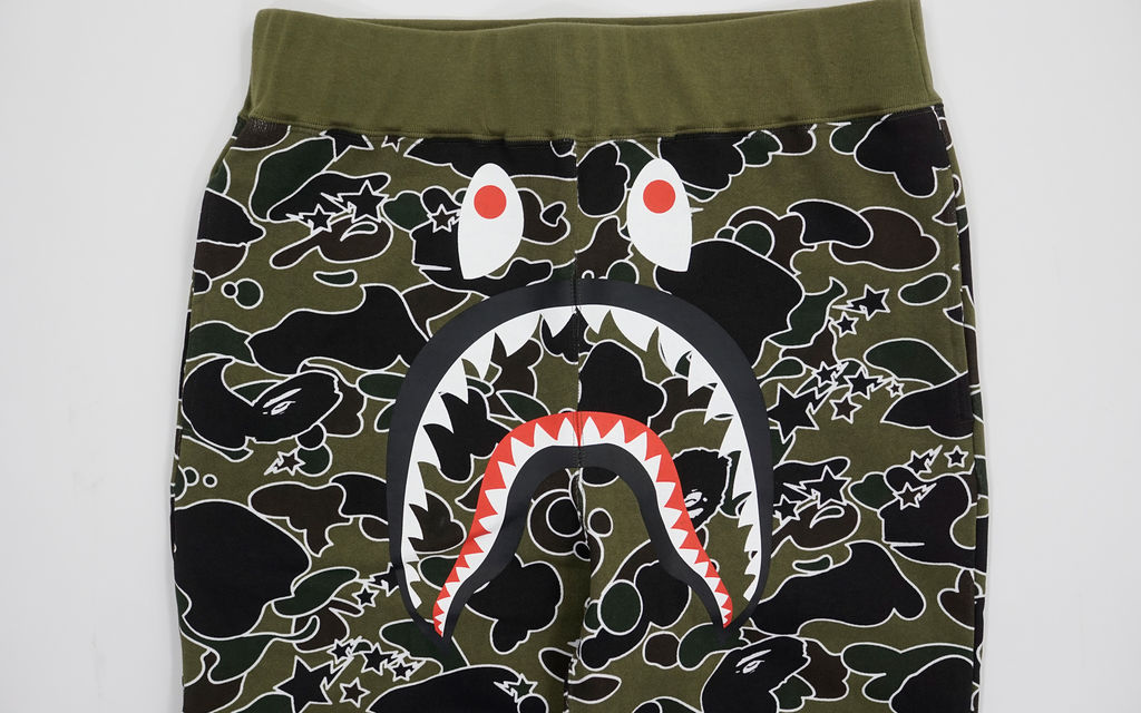 BAPE Psyche Camo Shark Sweatpants