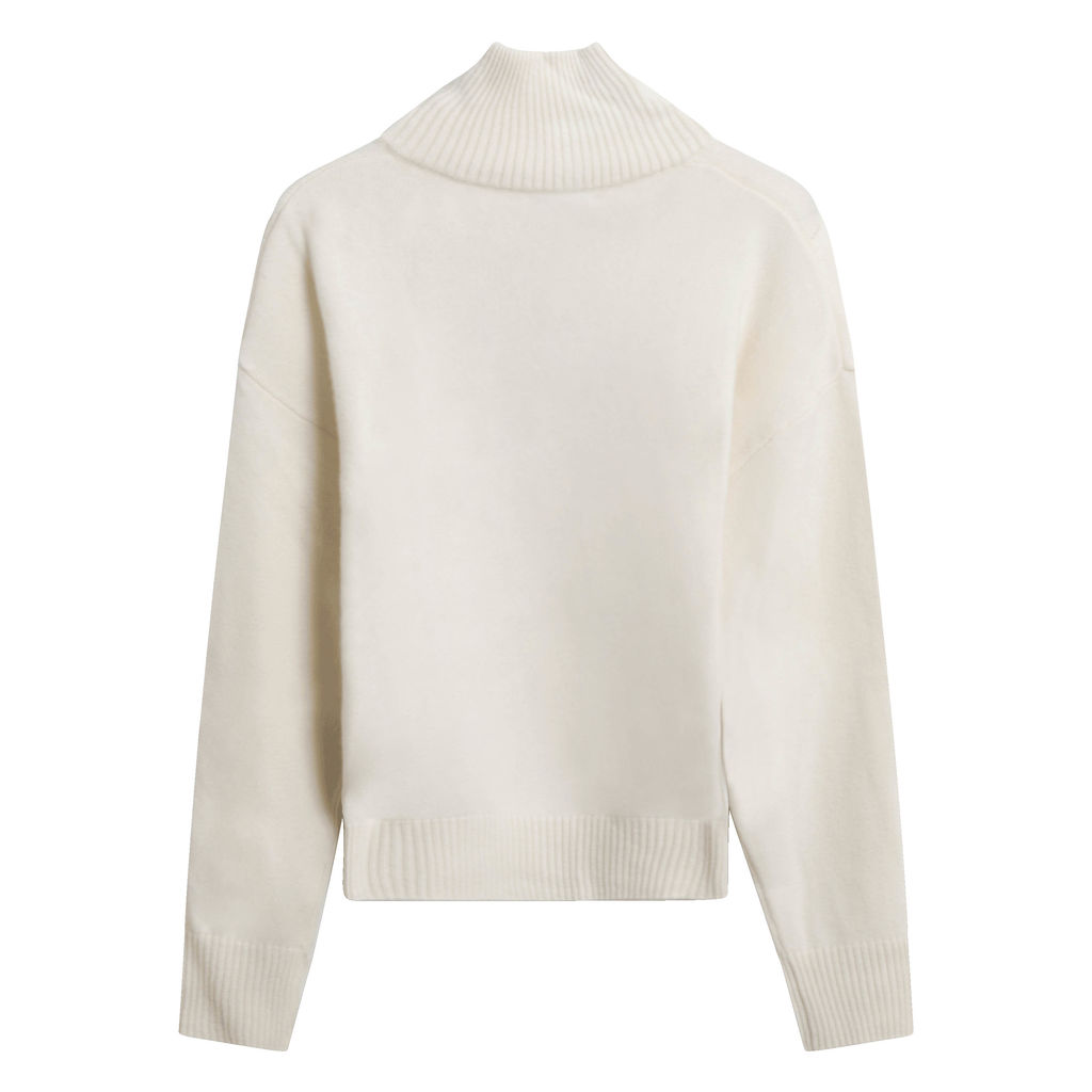 Public Habit Peggy Half-Zip Sweater in Cream