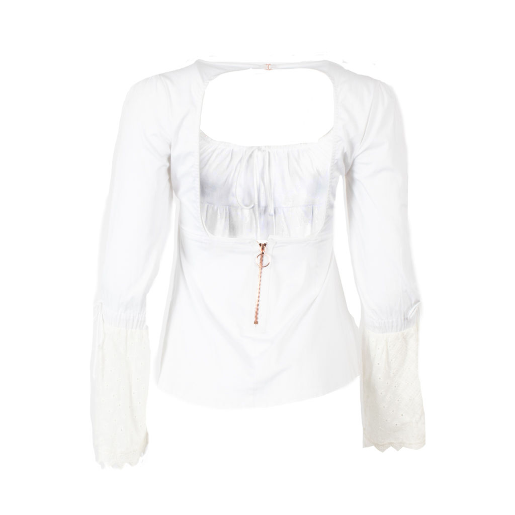 For Love & Lemons Empire Waist Peasant Blouse