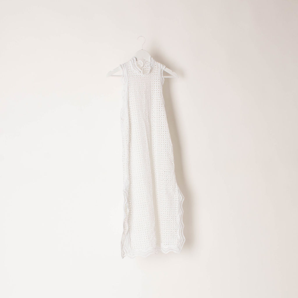 IRO Vicki Eyelet Midi Dress