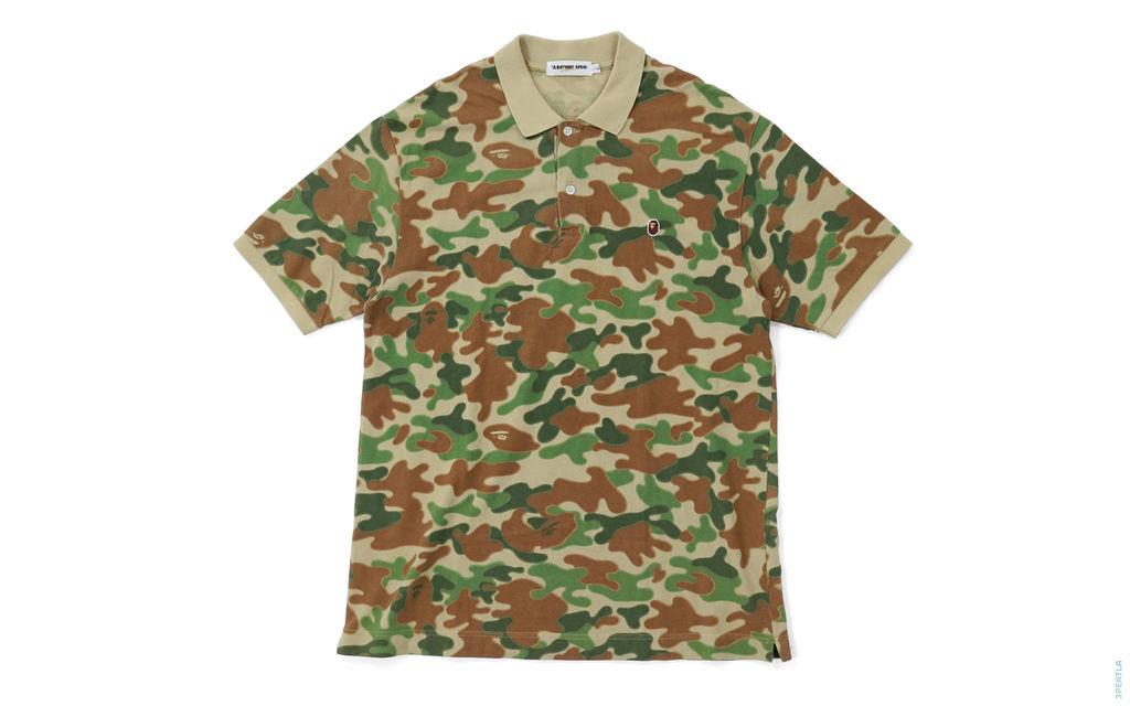 Puzzle Camo Polo Shirt green