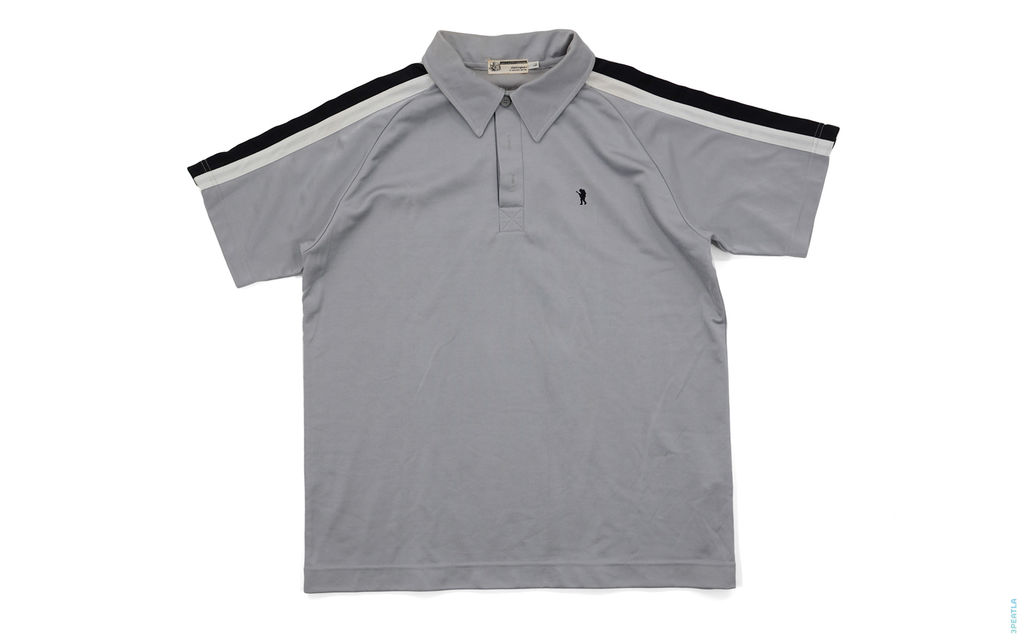 Foot Soldier Poly Blend Raglan Polo Shirt grey